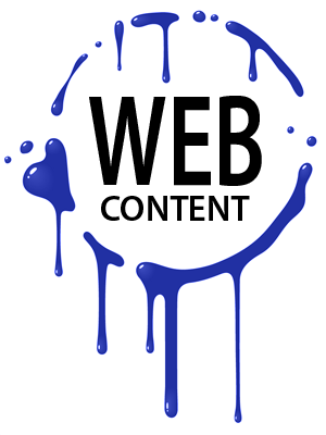 web content creation splash graphic