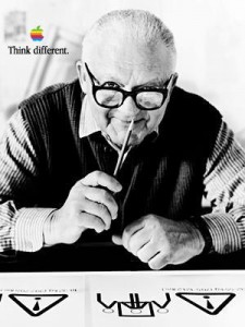 legendary graphic designer Paul Rand in Apple ad